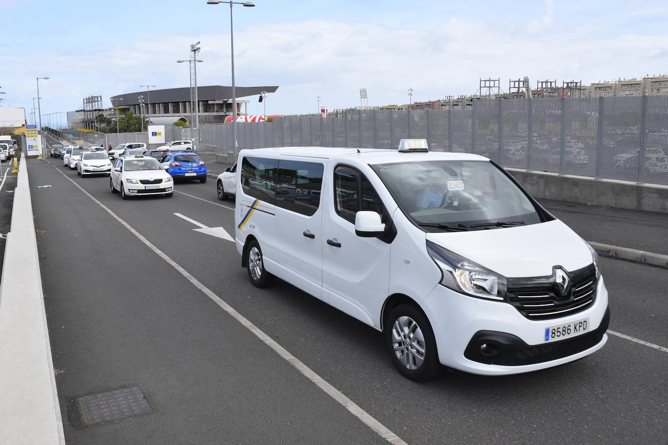 Imagen de archivo de una protesta de taxistas. /C7